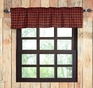 Cumberland Red Black Buffalo Plaid Window Valance