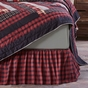 Cumberland Red Buffalo Plaid Bedskirt