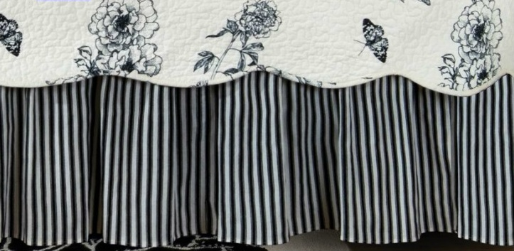 Dandridge Black Ticking Stripe Dust Ruffle By Williamsburg