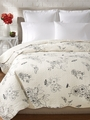 Dandridge Botanical Black Ivory Toile Quilt by Williamsburg