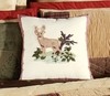 Big Sky Buck Deer Hooked Wool Pillow