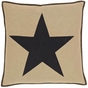 Delaware Burlap Black Star Euro Sham (1 Left in Stock)