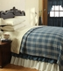 Easton Blue Plaid Woven Coverlet by VHC Brands