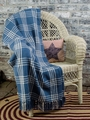 Easton Blue Woven Throw