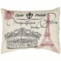 Elysee Eiffel Tower Paris Accent Pillow