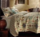 Esprit Spice Chocolate Boho Quilt Set