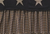 Farmhouse Star Black and Cream Check Bedskirt