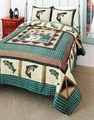 Fisherman's Wharf Fishing Quilt Set