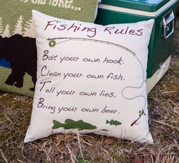 Fishing Rules Accent Pillow