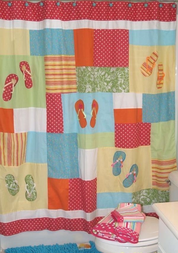 Flips Flops Beach Shower Curtain Tap To Expand