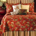Florentine Red Floral Quilt by Williamsburg