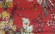 Florentine Red Floral Valance (two left in stock)