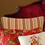 Florentine Red Green Stripe Euro Sham