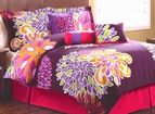 Flower Show Purple Comforter Set