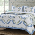 Forever Blue Wedding Ring Quilt Set
