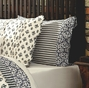 Elysee French Parisian Black Ticking Pillowcase Set ( 2)