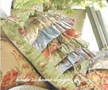 Garden Dream Ruffled Rag Pillow