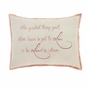 Genevieve Chambray Stenciled Pillow