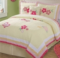 Golden Trails Yellow Butterflies Quilt Set