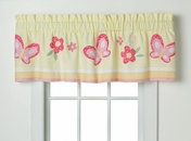 Golden Trail Yellow Flower Valance
