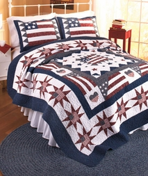 Great America Flag Quilt Set