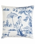 Hampstead Blue Toile Asian Print Pillow