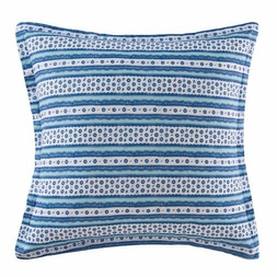 Hampstead Blue Toile Stripe Euro Sham by Williamsburg