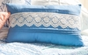 Hampstead Wedgewood Blue Lace Pillow