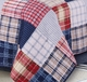 Hampton Red White Blue Plaid Quilt Set