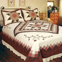 Heirloom Star Cotton Quilt Set