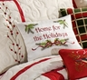 Home for the Holidays Berry Wreath Pillow