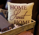 Home Sweet Home Soft Burlap Pillow