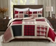 Huntington Red Buffalo Patch Quilt Set