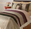 Inspiration Brown Satin Quilt Set