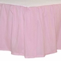 Julia Flower Solid Pink Bedskirt
