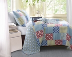 Kendall Blue Geometric Quilt Set