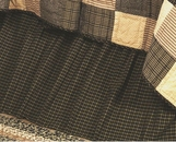 Kettle Grove Black Plaid Bedskirt
