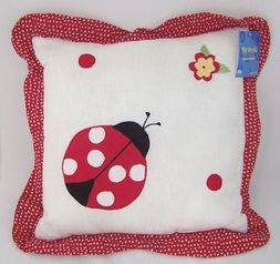 Lady Bug Accent Pillow