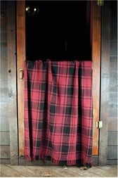 Lancaster Red Plaid Woven Throw