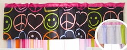 Little Miss Matched Peace Love Valance