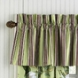Magnolia Green Burgundy Striped Valance by Williamsburg