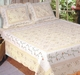 Monica Tea Rose Cream Quilt Set