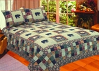 Black Bear Medley Cabin Quilt Set