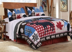 Mountain Trail Buffalo Quilt Set
