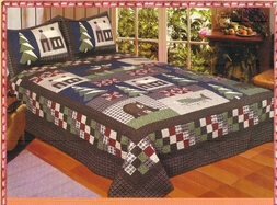 Mountain Trip Bear Cabin Quilt Set