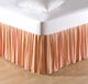 Orange Multi Coral Stripes Dust Ruffle