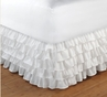 White Multi Layered  Princess Bedskirt Ruffle