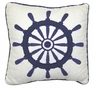 Nantucket Ship's Wheel Pillow