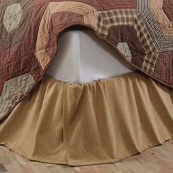 Natural Beige Burlap Ruffled Bedskirt