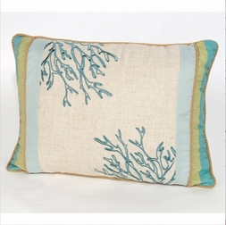 Natural Shells Coral Pillow